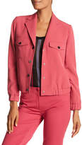 Anne Klein Snap Button Collared Jacket