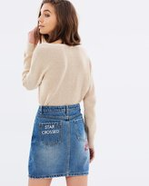 MinkPink Star Crossed Denim Skirt