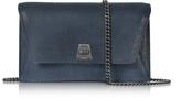 Akris Denim Blue Anouk Mini Envelope Bag