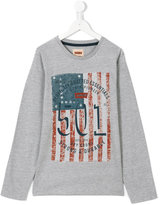 Levi's Kids - graphic flag T-shirt - kids - Cotton/Polyester - 16 yrs