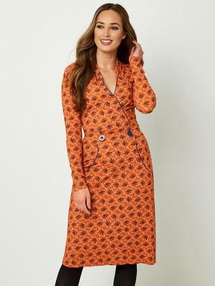 Joe Browns Crafty Collar Dress - Burnt Orange