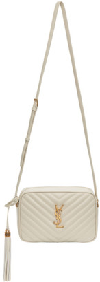 Saint Laurent White Lou Camera Bag