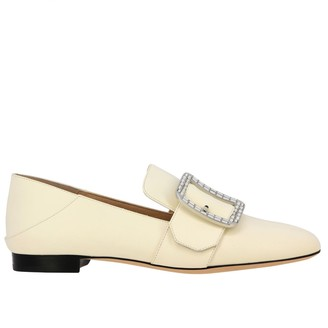 Bally Loafers Janelle Cristal Leather Loafer With Buckle