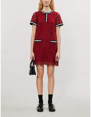 Claudie Pierlot Romilo lace mini dress