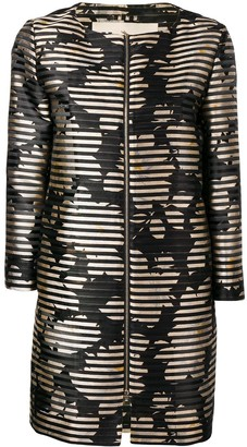 Herno Black And Gold Zipped Jacket