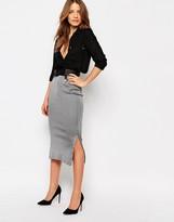Warehouse Smart Rib Side Split Tube Skirt