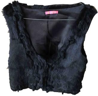 Manoush Black Rabbit Jackets