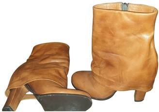 Michael Kors Camel Leather Ankle boots