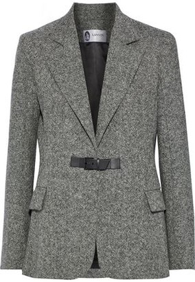 Lanvin Leather-trimmed Wool-tweed Blazer