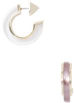 Alexis Bittar Lucite Minimalist Hoop Earrings