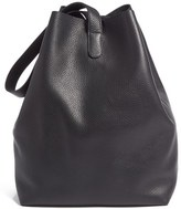 Creatures of Comfort Large Pebbled Leather Apple Bag - Black