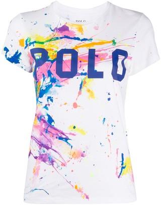 Polo Ralph Lauren paint splatter T-shirt