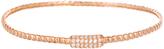 Bliss Cubic Zirconia & Rose Gold Rope Bangle Bracelet