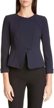 Emporio Armani Asymmetrical Textured Jacket