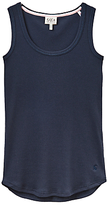 Joules Lull Ribbed Pyjama Vest Top, Navy