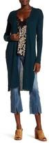 Free People Rib Knit Linen Blend Cardigan