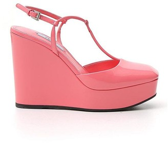 Prada Ankle Strap Wedges