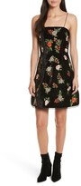Alice + Olivia Women's Launa Embroidered Velvet Dress