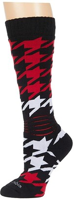 Columbia Houndstooth Over-the-Calf Snowboard Medium Weight 1-Pack (Black) Crew Cut Socks Shoes