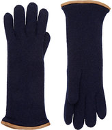 Barneys New York Women's Leather-Trimmed Cashmere Gloves-Blue
