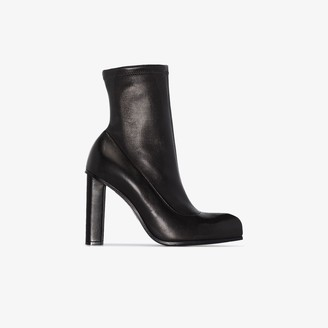 Alexander McQueen Black 110 Leather Ankle Boots