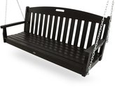 Trex Outdoor Furniture by Polywood Trex Outdoor Furniture Yacht Club Swing, Charcoal Black