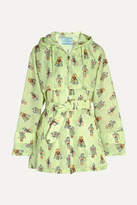 Prada Printed Shell Hooded Jacket - Mint