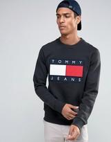 Tommy Jeans 90s Crew Sweatshirt in Black