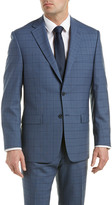 Austin Reed Classic Fit Wool Suit With Flat Pant