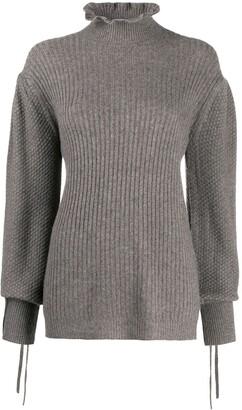 Teija Neule frilled-neck jumper