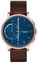 Skagen Hagen Brown And Blue Leather Hybrid Smartwatch