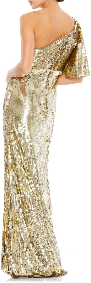 Thumbnail for your product : Mac Duggal Sequin One-Shoulder Column Gown