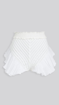 CHIO Knit Ruffle Shorts