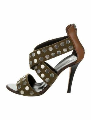 Giuseppe Zanotti Embellished Crossover Sandals Olive