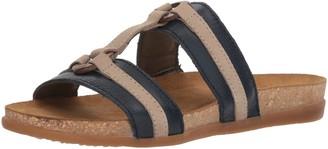 El Naturalista Women's NF49 Soft Grain-Pleasant Ocean-Piedra/Zumaia Flat Sandal 39 Medium EU (8.5 US)