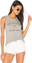 Spiritual Gangster The Universe Is On My Side Tank in Gray. - size L (also in M,S,XS)