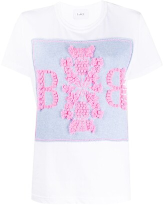 Barrie knit panel T-shirt