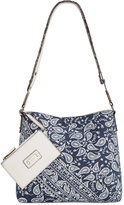 Style&Co. Style & Co. Clean Cut Paisley Reversible Crossbody with Wristlet, Created for Macy's