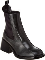 Chloé Bea Textured Leather Chelsea Bootie