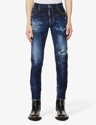 DSQUARED2 Skater distressed-detail stretch-denim jeans