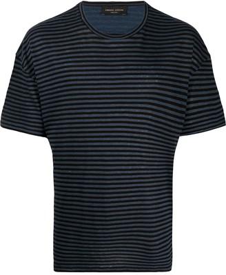 Roberto Collina stripe print T-shirt