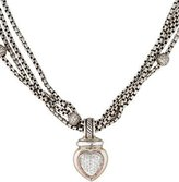 David Yurman Two-Tone Diamond Heart Pendant Necklace