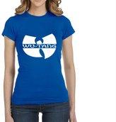 Jackyeah Women's Shirt Jackyeah A0389 Wu Tang Printed Cotton Womens Slim Fit T-shirt Casual T Shirt