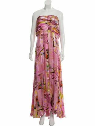 Naeem Khan Silk Maxi Gown Pink