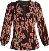 Isabel Marant Wave floral-print pleated blouse