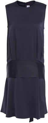 Victoria Victoria Beckham Fluted Crepe Mini Dress