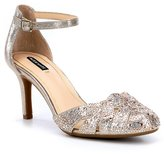 Alex Marie Delina Jeweled Ankle-Strap Pumps