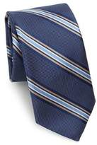 Saks Fifth Avenue COLLECTION Dotted Striped Silk Tie