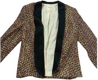 Masscob Multicolour Silk Jacket for Women