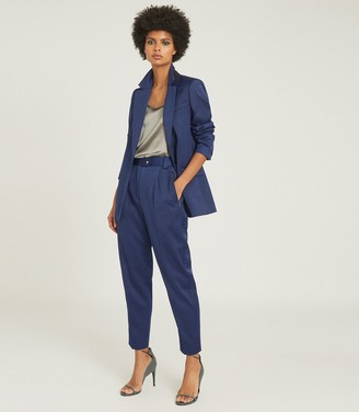 Reiss JAIDA SATIN BLAZER Blue